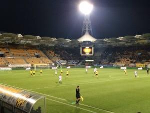De Roda-spelers vieren de tweede treffer van Tomi Juric. ((c) Roda JC Live)