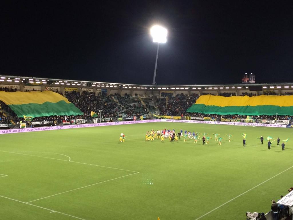 Een van de hoogtepunten van 'mijn' seizoen: Roda JC op bezoek in Den Haag. (Roda JC Live)